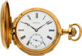 Timepieces:Pocket (pre 1900) , Baume & Cie, First Quality 18k Gold Minute Repeater, circa1880's. ...