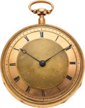 Timepieces:Musical - Mechanical , Swiss, Very Fine Gold Quarter Hour Repeater With Music, circa 1830. ...