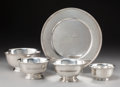 Silver Holloware, American:Bowls, Four Tiffany & Co. Revere Pattern Silver Bowls with aTiffany & Co. Silver Plate, New York, 20th century . Marks...(Total: 5 Items)