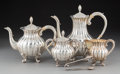 Silver Holloware, Japanese:Holloware, A Five-Piece Miyamoto Shoko Partial Gilt Silver Tea and Coffee Service in Original Fitted Case, Tokyo, 20th century . Marks:... (Total: 5 Items)