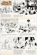 Original Comic Art:Comic Strip Art, Hal Foster Prince Valiant #1702 Sunday Comic Strip Original Art dated 9-21-69 (King Features Syndicate, 1969)....