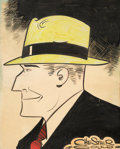 Original Comic Art:Illustrations, Chester Gould - Dick Tracy Illustration Original Art (c. 1940-50s)....