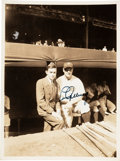 Baseball Collectibles:Photos, 1937 Lou Gehrig Signed Original Photograph Taken Prior to the WorldSeries, PSA/DNA Gem Mint 10. ...