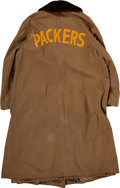 Football Collectibles:Others, 1940's Green Bay Packers Game Worn Sideline Jacket. ...