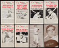 """Autographs:Sports Cards, 1947-66 Exhibits & 1960 Nu-Card """"Baseball Hi-Lites"""" Signed Card Collection (8)...."""