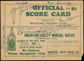 Autographs:Others, 1931 Milwaukee Brewers Signed Official Scorecard (9 Signatures)Plus 1933 Goudey Clyde Manion....
