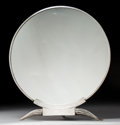 Decorative Accessories, A Continental Art Deco Silver-Plated Dressing Mirror in the Manner of Émile-Jacques Ruhlmann, 20th century. 18 x 16 x 5-1/4 ...