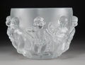 Decorative Arts, French:Other , A Lalique Luxembourg Pattern Frosted Crystal Bowl inOriginal Fitted Box, post-1945. Marks: Lalique, (R in c...