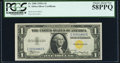 Small Size:World War II Emergency Notes, Fr. 2306 $1 1935A North Africa Silver Certificate. PCGS Choice About New 58PPQ.. ...