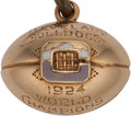 "Football Collectibles:Others, 1924 Cleveland Bulldogs NFL Championship Watch Fob Presented to Tailback Harry ""Hoge"" Workman...."