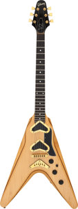 Musical Instruments:Electric Guitars, 1980 Gibson V2 Natural Solid Body Electric Guitar, Serial #80980032....
