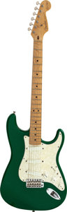 Musical Instruments:Electric Guitars, 1993 Fender Stratocaster 7-up Green Solid Body Electric Guitar, Serial # SE 925770....