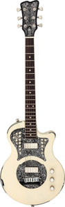Musical Instruments:Electric Guitars, 2007 Trussart Cream on Black Paisley Engraved Solid Body Electric Guitar, Serial # 07150....