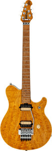 Musical Instruments:Electric Guitars, 1992 Ernie Ball EVH Amber Solid Body Electric Guitar, Serial #83062....