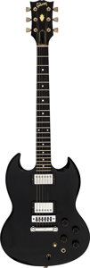 Musical Instruments:Electric Guitars, Circa 1981 Gibson SG-Artist Black Solid Body Electric Guitar, Serial # 83341022.. ...
