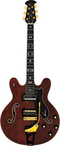 Musical Instruments:Electric Guitars, 1968 Ovation Thunderhead Walnut Semi-Hollow Body Electric Guitar, Serial # A004.. ...