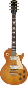 Musical Instruments:Electric Guitars, 1985 Gibson Les Paul Standard Amber Solid Body Electric Guitar,Serial # 5-0184....