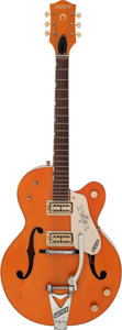 Musical Instruments:Electric Guitars, 1961 Gretsch 6120 Orange Semi-Hollow Body Electric Guitar, Serial # 40425....