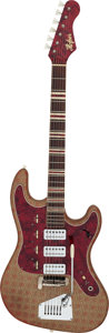 Musical Instruments:Electric Guitars, Circa 1963 Hofner 175 Red & Gold Solid Body Electric Guitar,Serial # 0300....