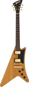 Musical Instruments:Electric Guitars, Circa 1985 Gibson Moderne Natural Solid Body Electric Guitar, Serial # G 032....