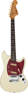 Musical Instruments:Electric Guitars, 1965 Fender Mustang White Solid Body Electric Guitar, Serial # L59660....