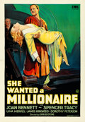 Movie Posters:Romance, She Wanted a Millionaire (Fox, 1932). Very Fine on Linen.