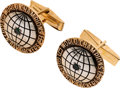 Football Collectibles:Others, 1967 Green Bay Packers Super Bowl I Championship Gold Cuff Links. ...