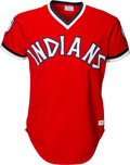 Baseball Collectibles:Uniforms, 1976 Dennis Eckersley Game Worn Cleveland Indians Jersey. ...