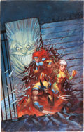 Original Comic Art:Covers, Joe Chiodo X-Men: Prisoner X Cover Original Art (Berkeley Books, 1998)....
