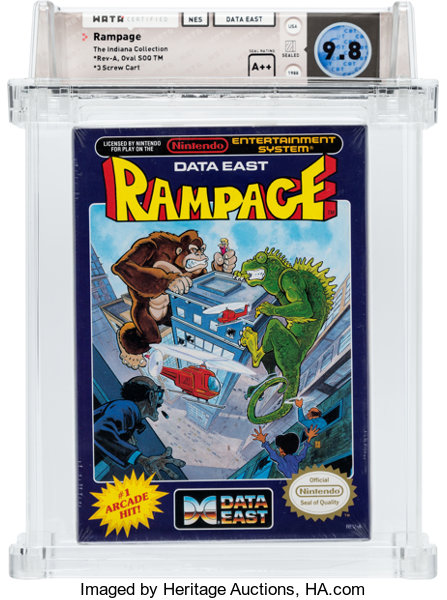 Rampage Nes Data East 1988 Wata 9 8 A Seal Rating