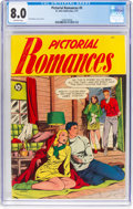Golden Age (1938-1955):Romance, Pictorial Romances #5 (St. John, 1951) CGC VF 8.0 Off-white pages....