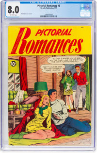 Pictorial Romances #5 (St. John, 1951) CGC VF 8.0 Off-white pages