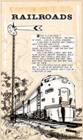 """Original Comic Art:Complete Story, L. B. Cole, Norman Nodel, and Others The World around Us #4 """"The Illustrated Story of Railroads"""" 80-Page Original ... (Total: 80 Original Art)"""