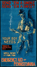 "Movie Posters:War, World War I Propaganda (Emergency Aid of Pennsylvania, Overseas Committee, c. 1917). Fine/Very Fine. Poster (12"" X 20.5"") ""S..."
