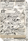Original Comic Art:Panel Pages, Dick Ayers and John Severin Sgt. Fury and His Howling Commandos #53 Partial Story Original Art Group of 13 (Marvel... (Total: 13 Original Art)
