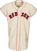 Baseball Collectibles:Balls, 1958 Ted Williams Game Worn Boston Red Sox Jersey, MEARS A7.5....