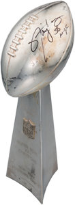 Football Collectibles:Others, 1990 Super Bowl XXV Player Format Lombardi Trophy Presented to NewYork Giants Linebacker Lawrence Taylor with Taylor Letter....