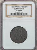 1786 CONNCT Connecticut Copper, Mailed Bust Left VF35 BN NGC