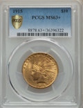 Indian Eagles, 1915 $10 MS63+ PCGS. PCGS Population: (648/440 and 8/43+). NGC Census: (422/439 and 1/24+). CDN: $1,050 Whsle. Bid for prob...