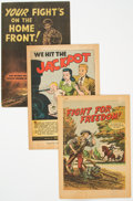 Golden Age (1938-1955):Miscellaneous, War Propaganda Promotional Comics Group of 3 (Various Publishers, 1940s).... (Total: 3 Comic Books)