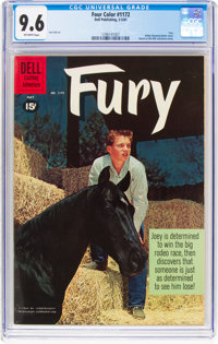 Four Color #1172 Fury (Dell, 1961) CGC NM+ 9.6 Off-white pages
