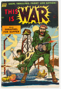 This Is War #9 (Standard, 1953) Condition: FN