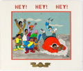 Animation Art:Limited Edition Cel, Fat Albert and the Cosby Kids Emmy Nomination Plaque and20th Anniversary Limited Edition Cel #18/250 (Filmation, 1986...(Total: 2 Items)