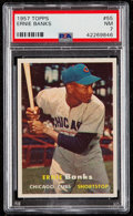 Baseball Cards:Singles (1950-1959), 1957 Topps Ernie Banks #55 PSA NM 7....