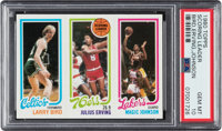 1980 Topps Larry Bird/Julius Erving/Magic Johnson PSA Gem Mint 10