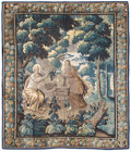 Textiles, A Flemish Verdure Tapestry, late 19th century. 106-1/2 x 90 inches (270.5 x 228.6 cm). ...