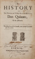 Books:Literature Pre-1900, [Miguel de Cervantes Saavedra]. The History of the Valorous and Witty Knight Errant, Don Quixote, of the Mancha. Lon...