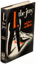 Books:Mystery & Detective Fiction, Mickey Spillane. I, the Jury. New York: 1947. First edition, slip signed by the author laid in....