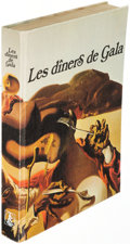 Books:Art & Architecture, [Salvador Dalí]. Les diners de Gala. Barcelona: 1974. First Spanish (Catalan?) edition, signed by Dalí with an origi...