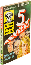 Books:Mystery & Detective Fiction, Raymond Chandler. Group of Three Paperback Originals. New York: [1944-1947]. First editions....